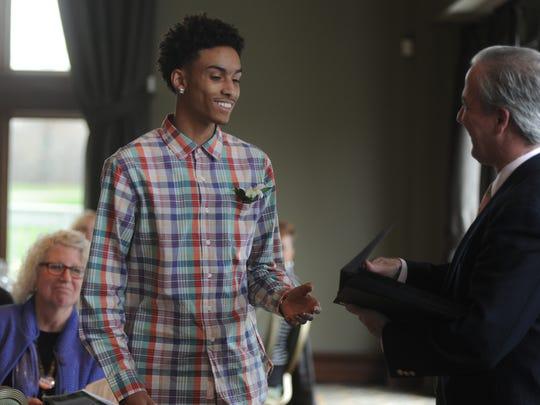 Farmington High School senior Victor Graves was eager