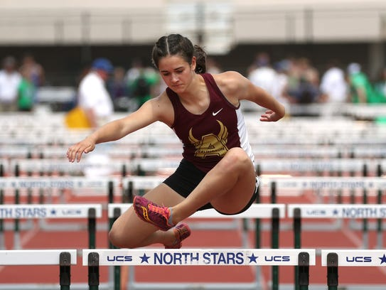 Arlington's Anna Mae Nellis competes in the Pentathlon