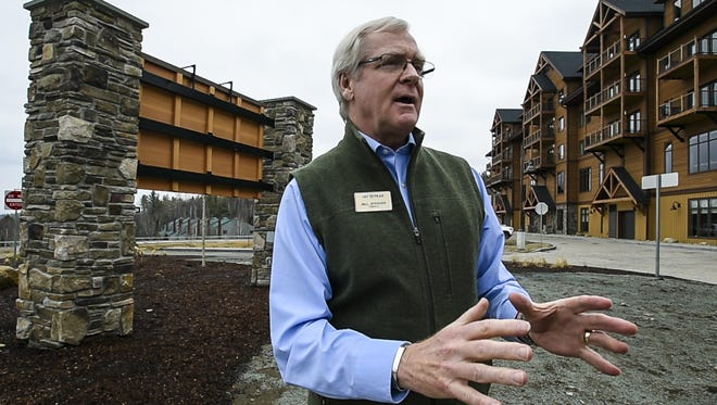 Developer Bill Stenger in March discusses the challenges he has faced with the Q Burke Resort project in East Burke.