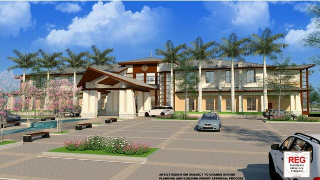 This artist's rendering shows the planned design for the new Royal Palm Beach Village Hall, which requires one more approval from the Village Council before permits can be issued. Construction is scheduled to begin in 2021.