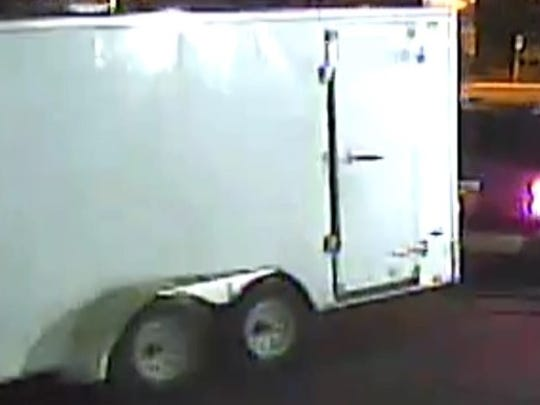 On Monday, Nov. 27, 2017 at about 3:20 a.m., a 2015 enclosed Pace Box Trailer was stolen from Extra Space Storage located at 37th Street and East Bell Road in Phoenix.