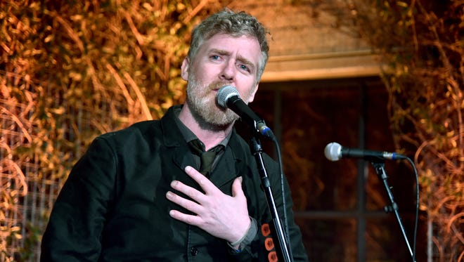 Glen Hansard performs during the 12th Annual US-Ireland Aliiance's Oscar Wilde Awards event at Bad Robot on Feb. 23, 2017, in Santa Monica, Calif.