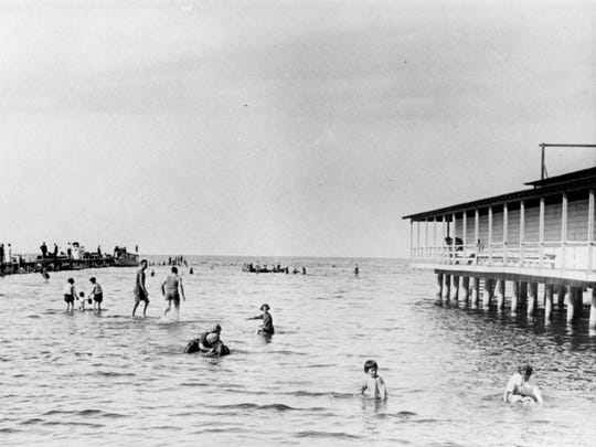 Bay Beach became a popular destination in the 1890s, and soon a trolley would carry residents there for swimming and other summer recreation.