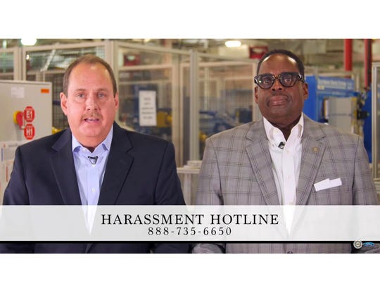 From left, Bruce Hettle, Group Vice President, Manufacturing