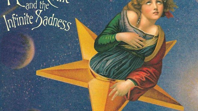 "The album cover to the Smashing Pumpkins' 1995 album ""Mellon Collie and the Infinite Sadness."""