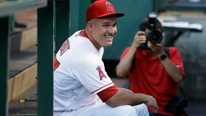 Mike Trout provided plenty of smiles in his hometown on Thursday when he donated lunch to all of the employees at a local supermarket in Millville.
