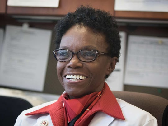 Dr. Velma Scantlebury was the nation's first African American female transplant surgeon. She now practices at Christiana Care in Newark.