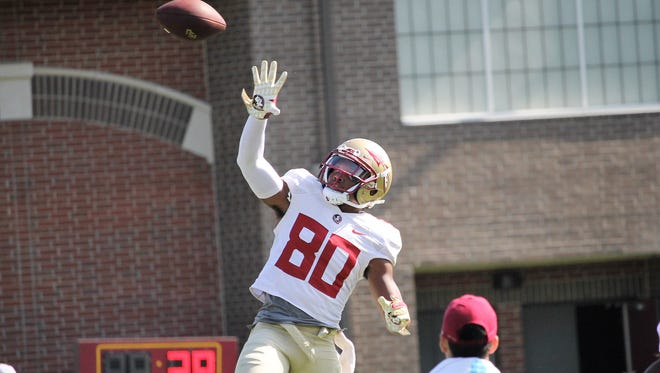 FSU wide receiver Nyqwan Murray during practice on Aug. 11, 2018.