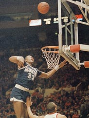 Georgetown's Patrick Ewing (33) is shown in action