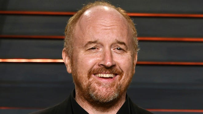 """FILE - In this Feb. 28, 2016 file photo, Louis C.K. arrives at the Vanity Fair Oscar Party in Beverly Hills, Calif. The New York premiere of Louis C.K.'s controversial new film """"I Love You, Daddy"""" has been canceled amid swirling controversy over the film and the comedian. (Photo by Evan Agostini/Invision/AP, File) ORG XMIT: NYET411"""