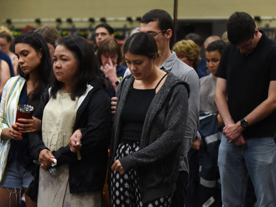 Prayer vigil for Adam Jobbers-Miller at P.O.L. Fire