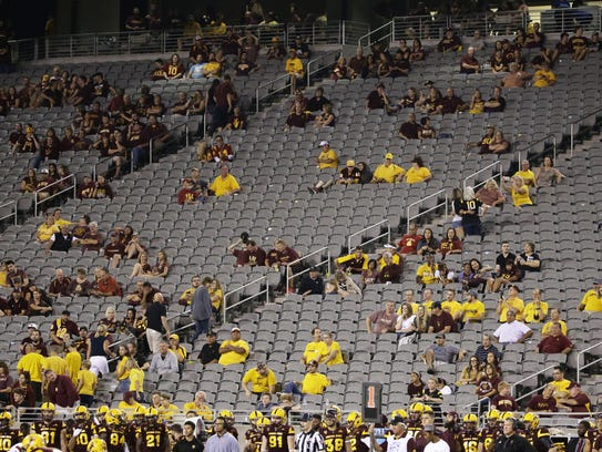 When the going got rough for the Sun Devils against USC on Saturday, their fans got going.
