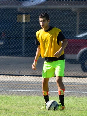 Moises Medina dribbles the ball at DSU camp. The Mesquite Elks Lodge and its members are hosting a Soccer Shoot to youth up to 13 years old.