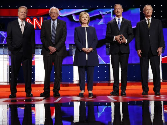 democratic presidential debate highlights as clinton 2016 field