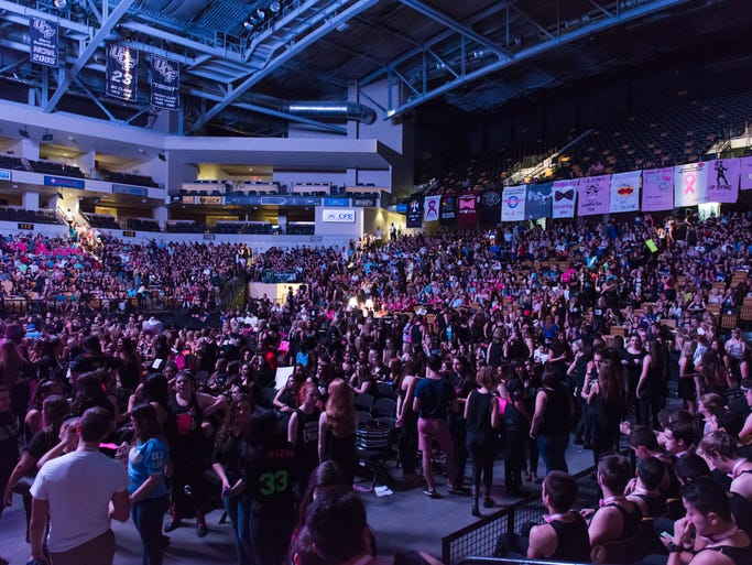 The CFE Arena was brimming with students waiting for the ZTA Lip Sync to begin.