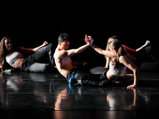 From left, Dancers Alexandra Brannon, Justin Hapner,