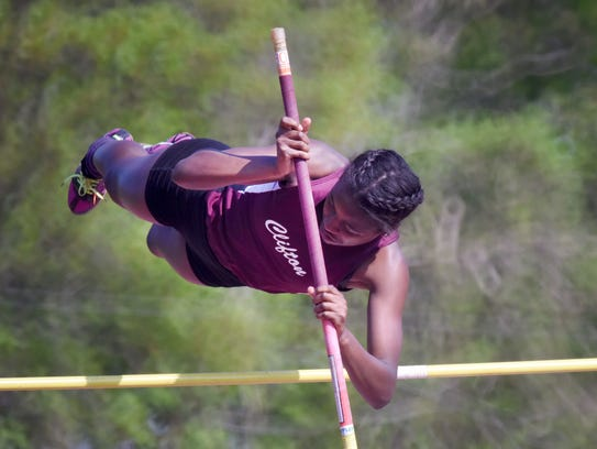 Brianna Morrison, Clifton, Pole Vault Second Day of