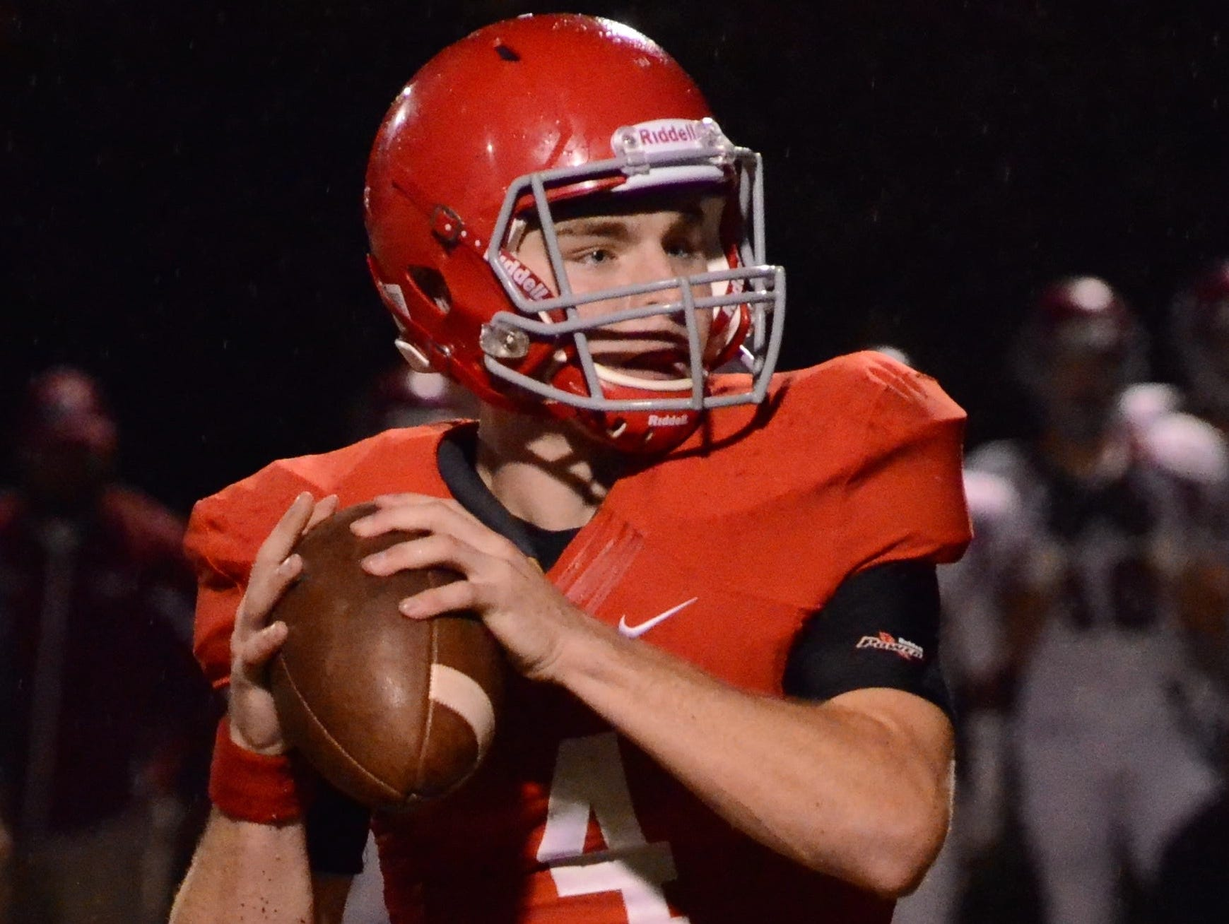 Brentwood Academy's Jeremiah Oatsvall ran for five touchdowns and had 425 yards from scrimmage, including 253 yards passing against MBA on Friday.
