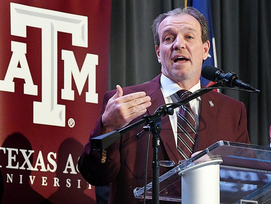 Jimbo Fisher speaks as he is introduced as Texas A&M's