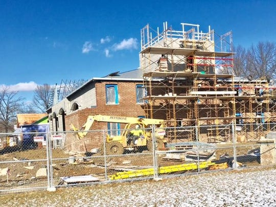 The back of the fire house under construction in Indian Hill. A proposal in Ohio's Legislature would allow localities to vote not to pay prevailing wage on construction projects such as this one.