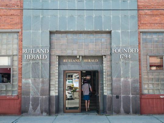 The Rutland Herald building in Rutland, VT.