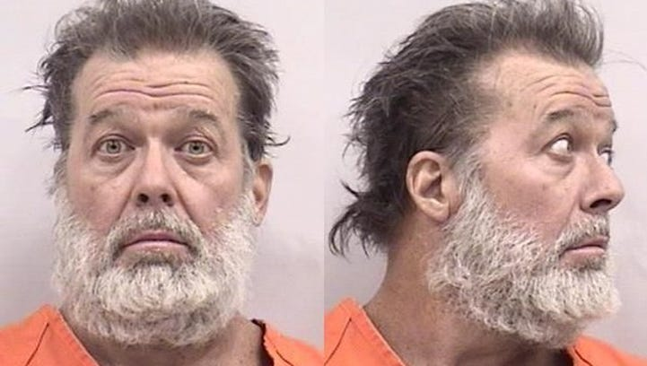 Robert Dear is shown in a booking photo after his arrest