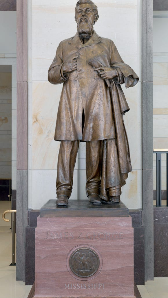 This statue of J.Z. George, who fought for the South