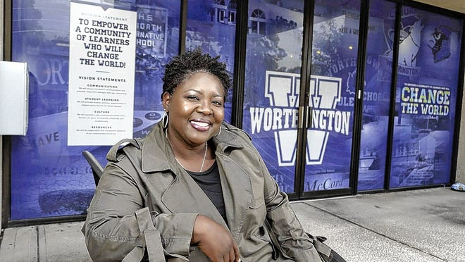 Toya Spencer is the first director of diversity, equity and inclusion for Worthington Schools. She is pictured outside the district office building Aug. 12.