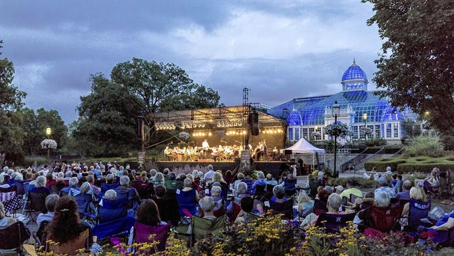 A ProMusica Chamber Orchestra concert held last year at Franklin Park Conservatory and Botanical Gardens, 1777 E. Broad St. in Columbus, drew a large crowd. This summer, attendance at the musical group's concerts mostly will be limited to 100 people per event, so seven concerts have been planned in Columbus, Dublin and Gahanna.