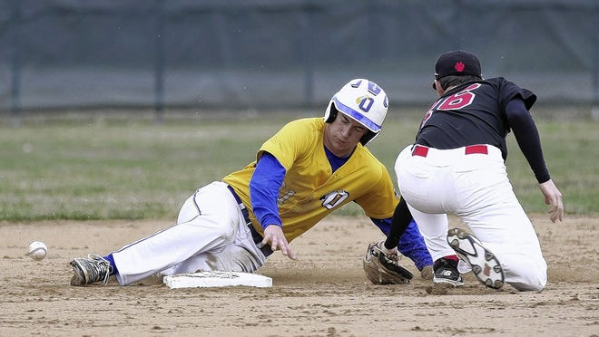 Olentangy's Jace Middleton slides safely into second base during a game last season. Middleton, an Ohio State commit, was looking forward to producing a strong junior season for the Braves before spring sports were canceled because of the COVID-19 coronavirus pandemic. A back injury hampered him throughout his sophomore season.