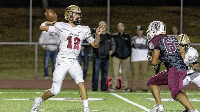 Quarterback Brock Tibbits and New Albany will open the season Friday, Aug. 28, by playing host to Lancaster. It will be the first meeting between the Eagles and the Golden Gales.