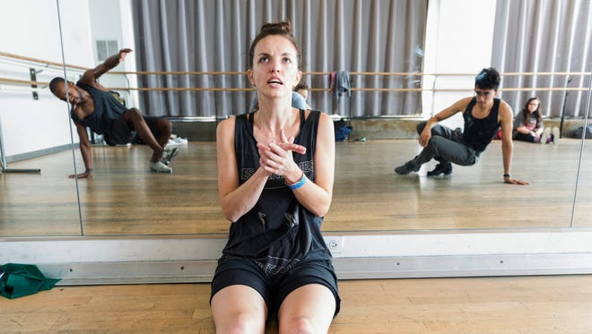 """Tap dancer and composer Michelle Dorrance poses for a photo in New York. Dorrance was named Tuesday, Sept. 29, 2015, as one of 24 winners of this year's MacArthur Foundation """"genius grants."""""""