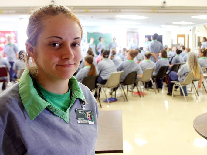 Lyndsay Burkley is a recent graduate of the Tapestry program at the Ohio Reformatory for Women. The program, which takes 12-16 months to complete, is aimed at changing behaviors and bolstering cognitive development of women with substance abuse problems or those suffering from trauma related to physical or sexual abuse. James Miller/The Marion Star