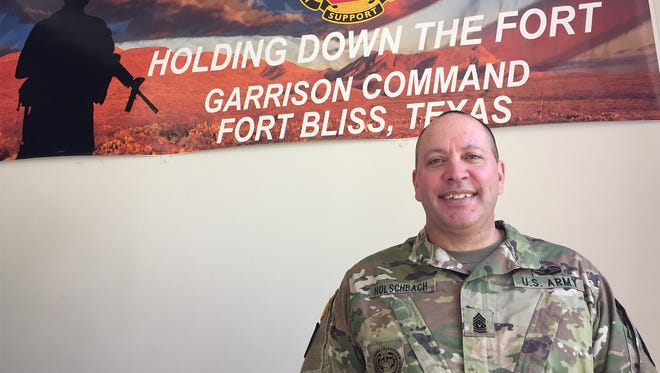 Command Sgt. Maj. Brian Holschbach is the new senior enlisted leader for Garrison Command at Fort Bliss.