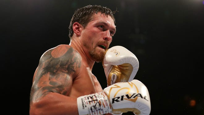 Oleksandr Usyk, who has been training in Oxnard, will make his heavyweight debut Saturday night against Chazz Witherspoon in Chicago.