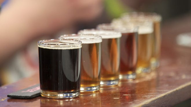Brews were ranked by darkness at last year's Winterfest.