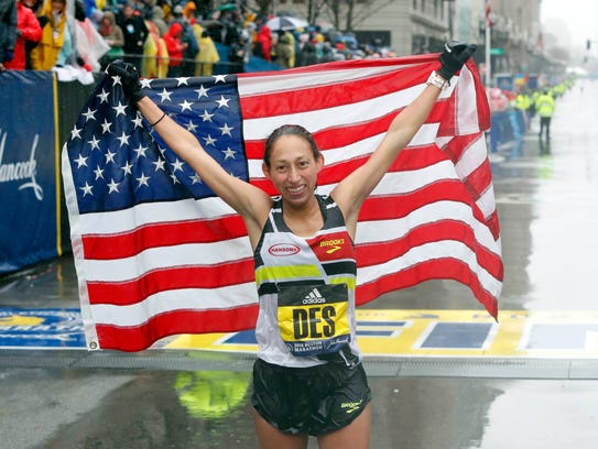 Former ASU standout Desiree Linden of the U.S. holds