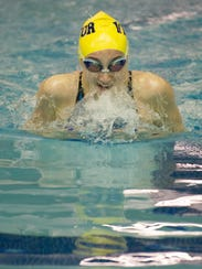 Victor's Mia Baggett swims the final of the 100-yard