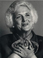 Barbara Bush during an interview in Corpus Christi