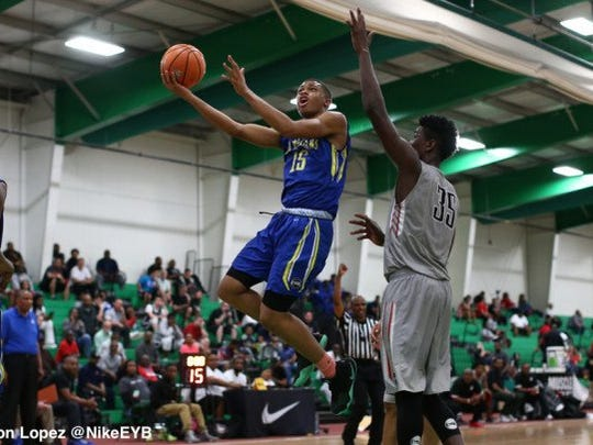 Keldon Johnson was dominant this past weekend at the EYBL. (Photo: Jon Lopez/Nike)