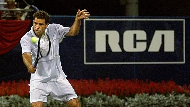 Pete Sampras was among the top tennis stars to visit Indianapolis in the late 1990s.