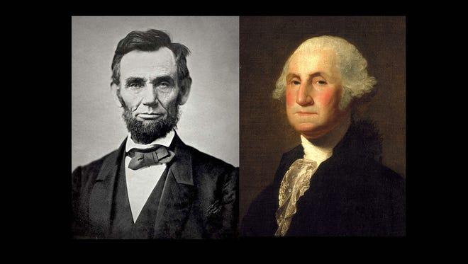 Abraham Lincoln and George Washington