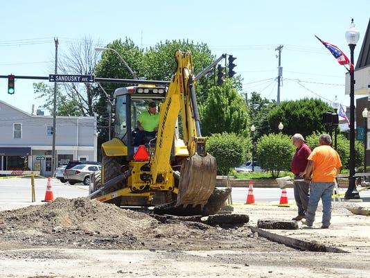 Repairing the roadway