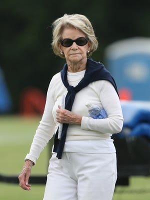 Detroit Lions owner Martha Ford was on hand to watch minicamp Thursday, June 18, 2015 at the Lions' Allen Park practice facility.