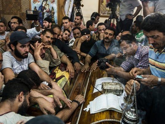 EPA EGYPT COPTIC CHRISTIANS ATTACKED WAR ACTS OF TERROR EGY MI