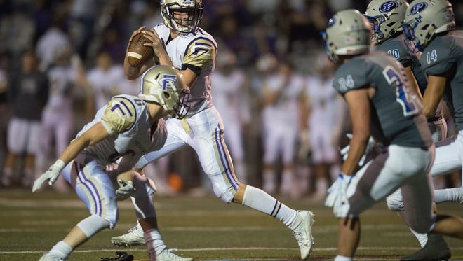 Fort Collins quarterback Hayden Iverson leads area quarterbacks with more than 1,000 yards passing.