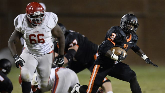 Brentwood Academy's Brandon Adams (66) signed with Georgia Tech Wednesday.