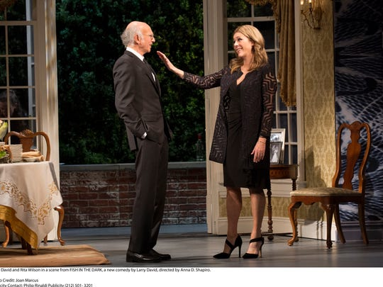 "Larry David and Rita Wilson play husband and wife in ""Fish in the Dark."""