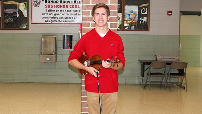 Lucas Sherman earned first place in the York Symphony Orchestra's Song Writing Contest.
