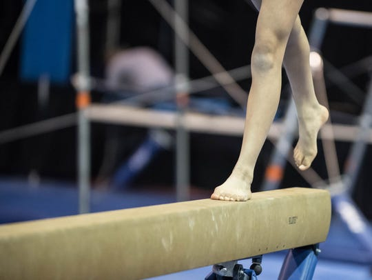 Gymnasts work out at Kellogg Arena prior to Cereal